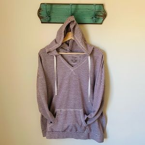 Sonoma Striped Comfy Pullover Drawstring Hoodie